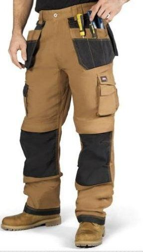 819b4cf08c Lee Cooper Workwear 210 Tan / Black Premium Heavyweight Work Trousers Pants  With Kneepad Pockets: Amazon.co.uk: Sports & Outdoors