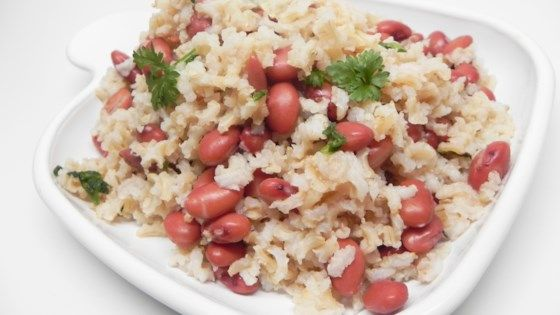 Cajun Meatless Red Beans and Brown Rice #cajundishes