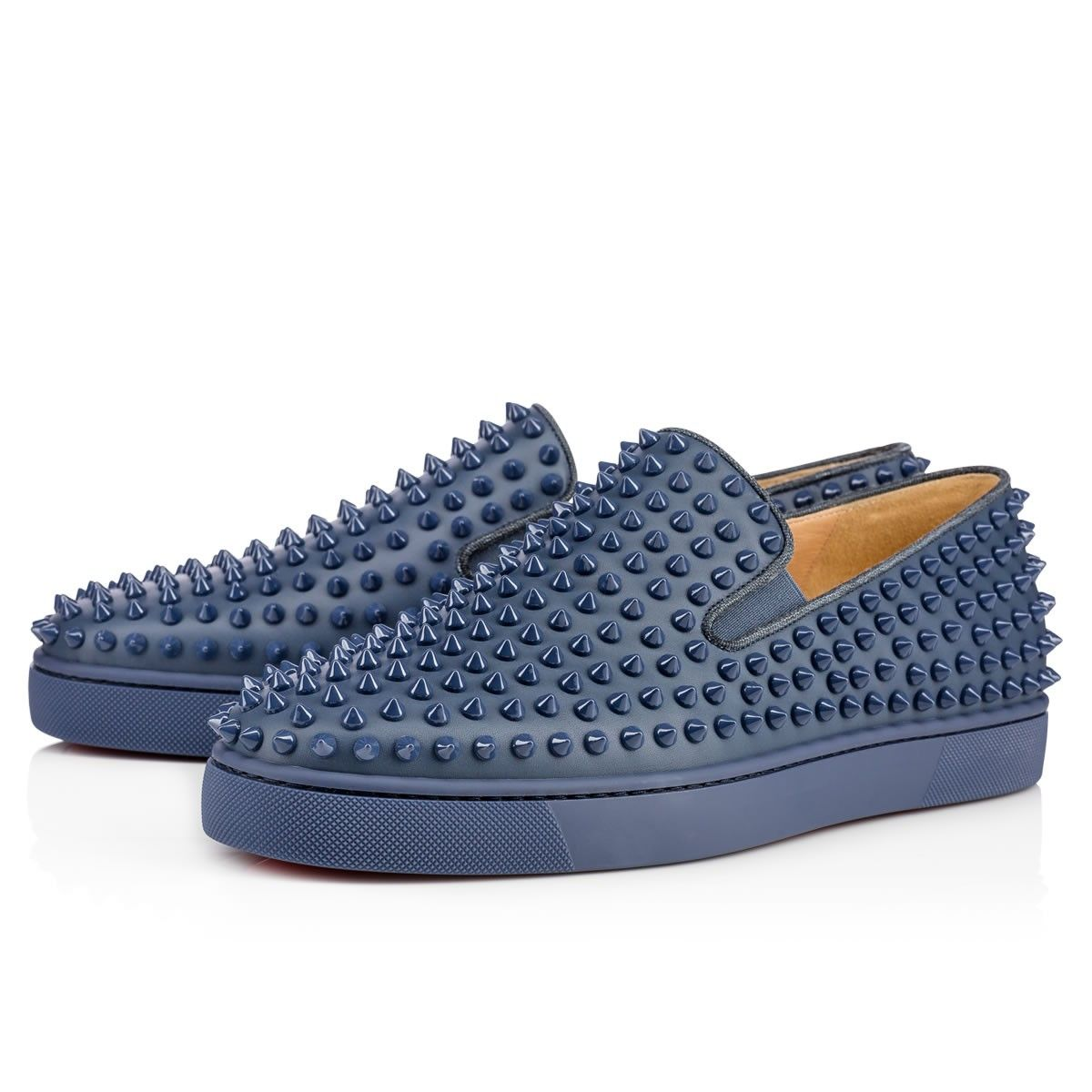 Roller-Boat Men's Flat  Blues Leather - Men Shoes - Christian Louboutin