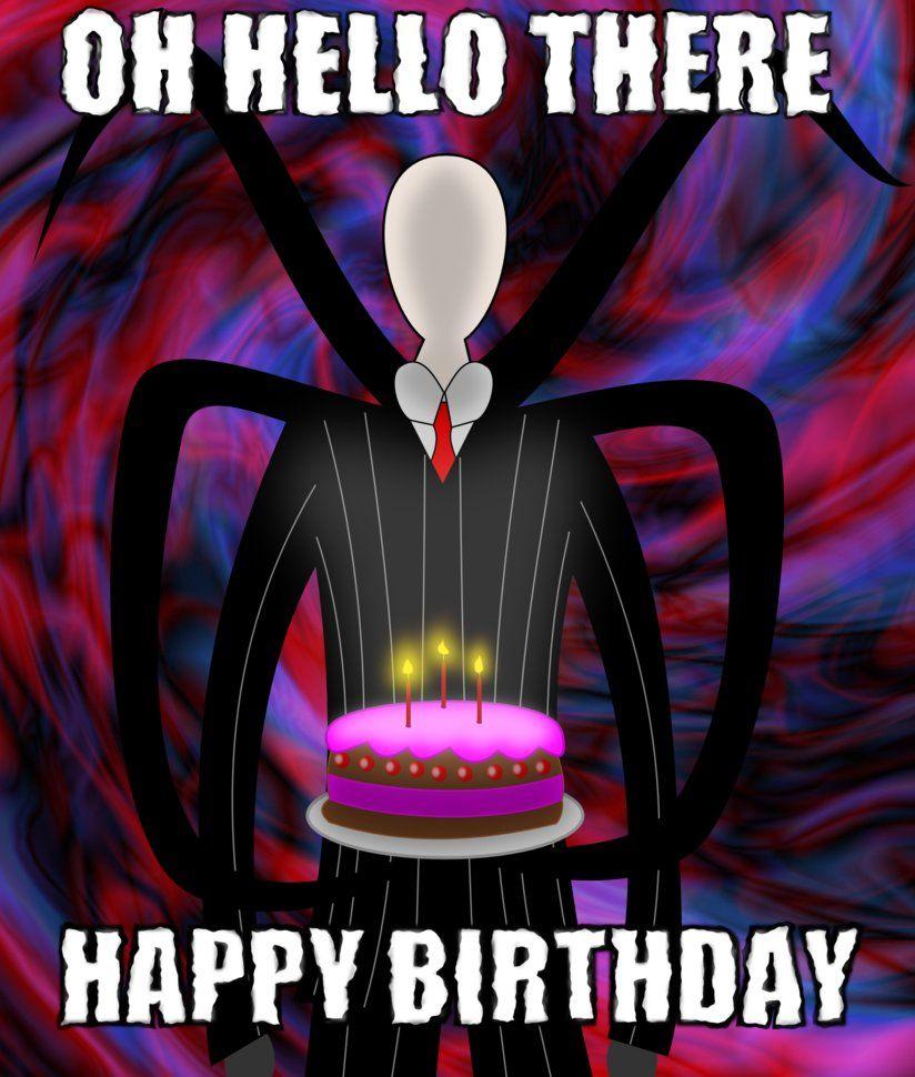 Slenderman Birthday by Psyxofthoros | Creepy pasta | Creepypasta