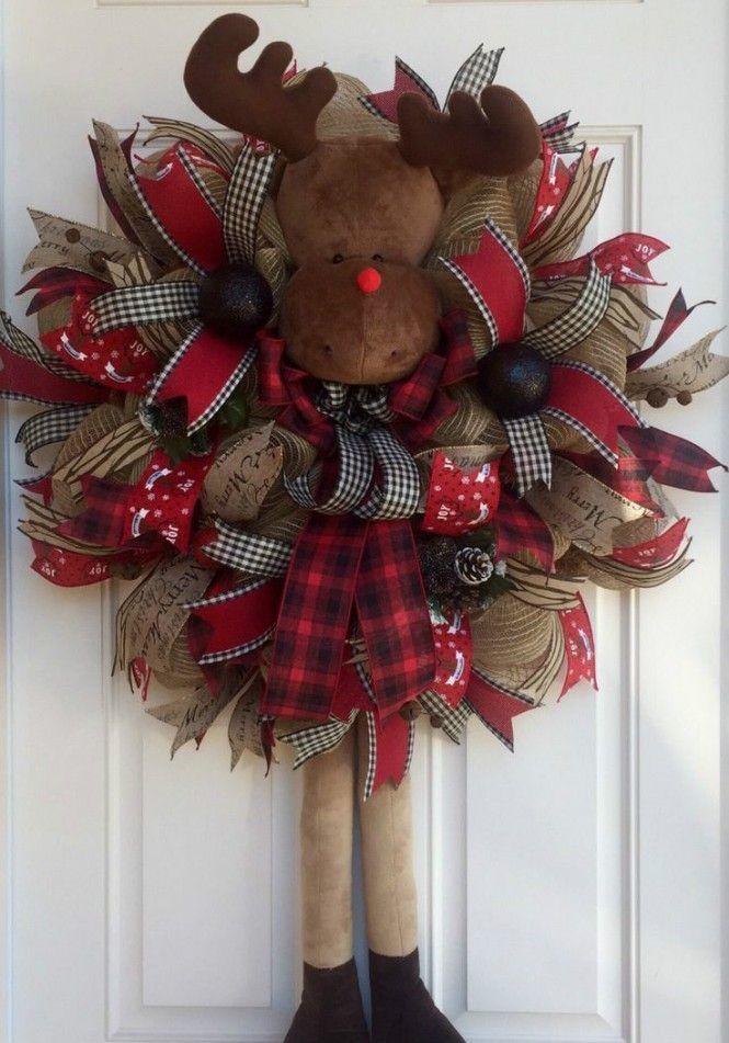 Guirlanda fofa de rena para o Natal