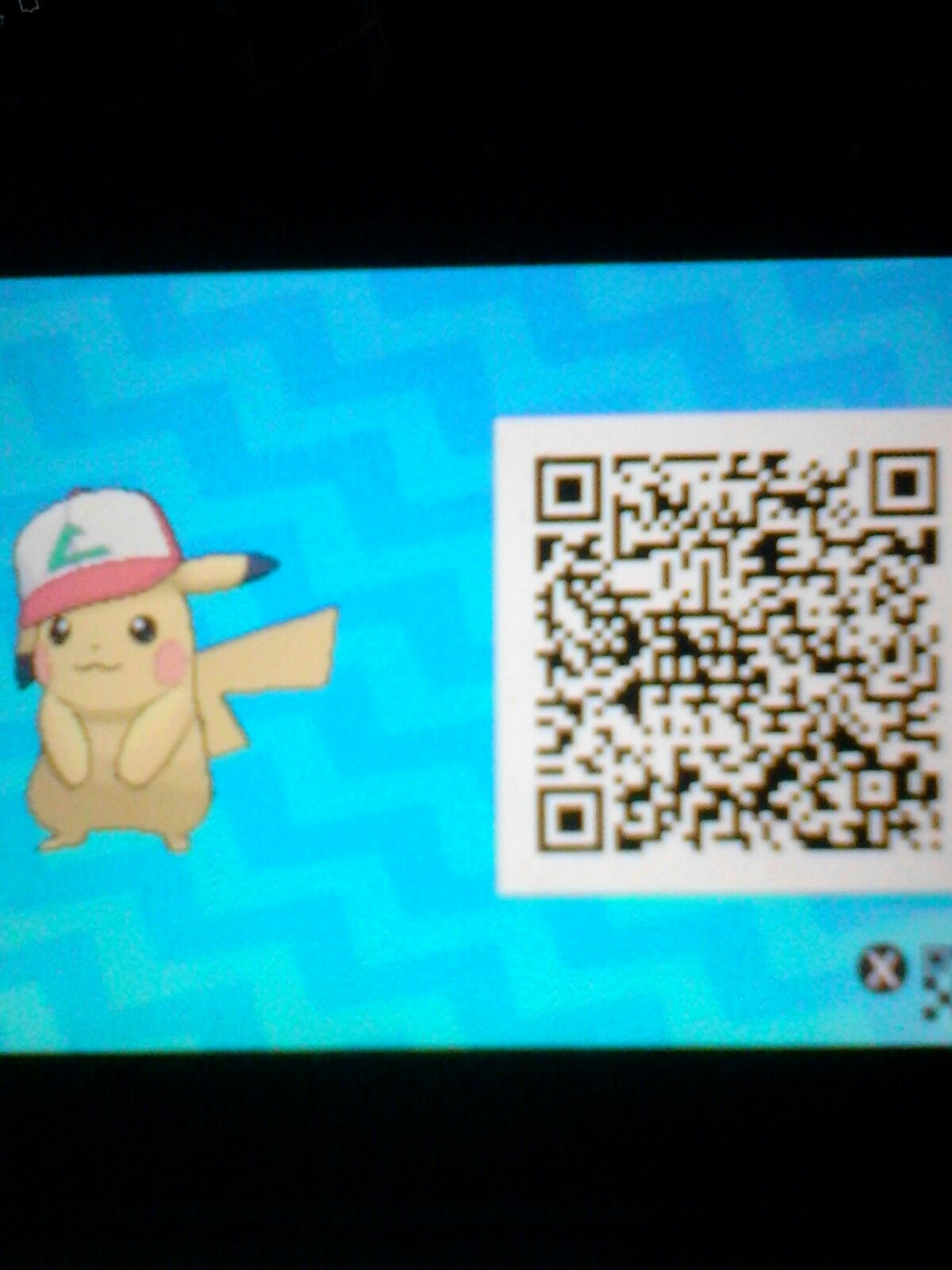 Well The Qr Code Is Just Pikachu Sadly But Here S The Ash Pikachu I