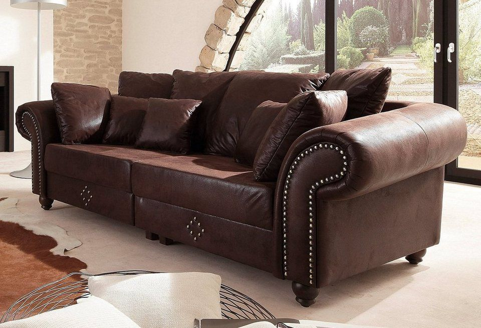 Home Affaire Big Sofa King George Inklusive Komfortablen Federkerns Online Kaufen Otto Moderne Couch Wohnen Big Sofa Mit Schlaffunktion