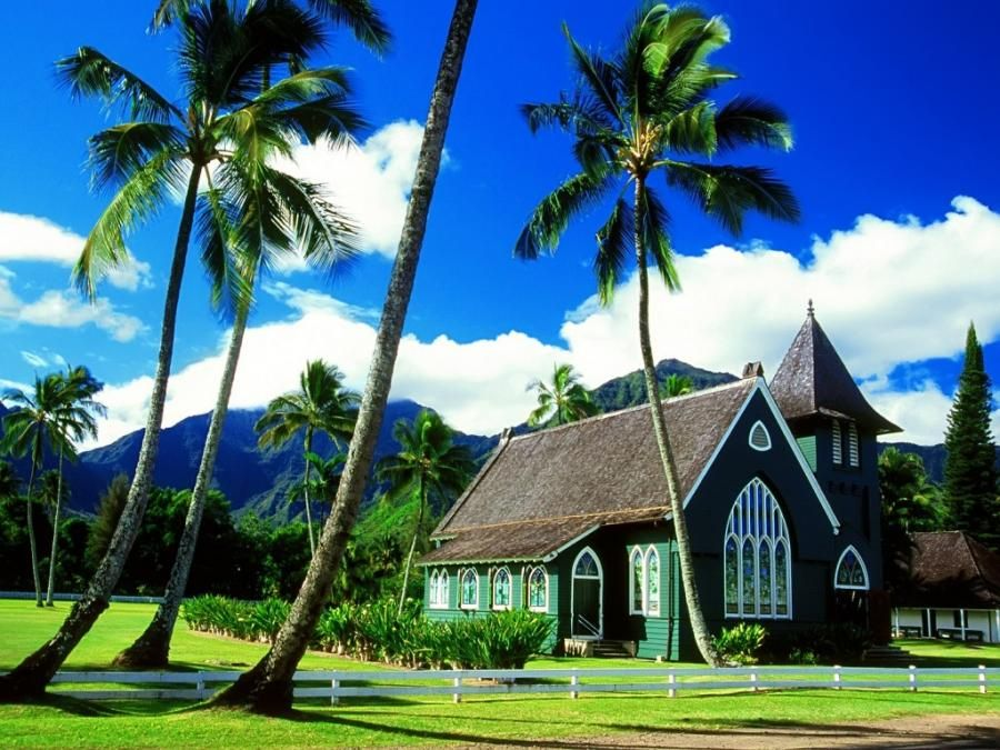 Hawaiian church.  Can you imagine going there every Sunday?