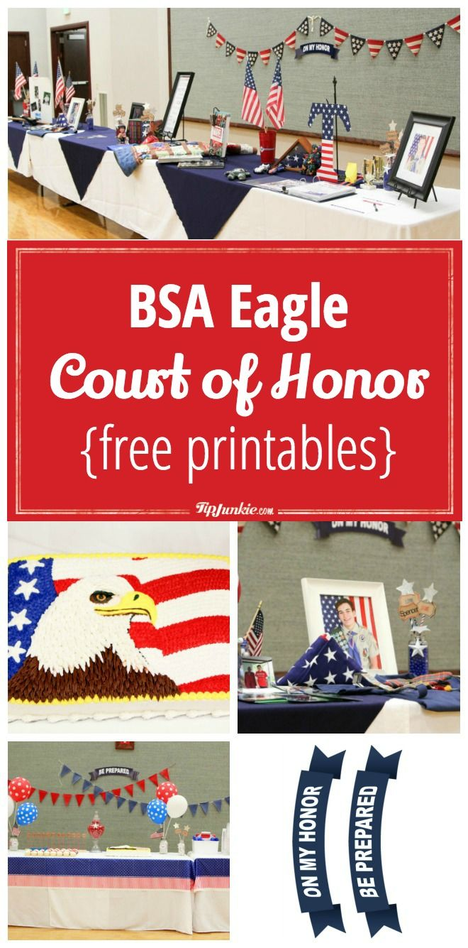 Plan a BSA Eagle Court of Honor includes {free printables}