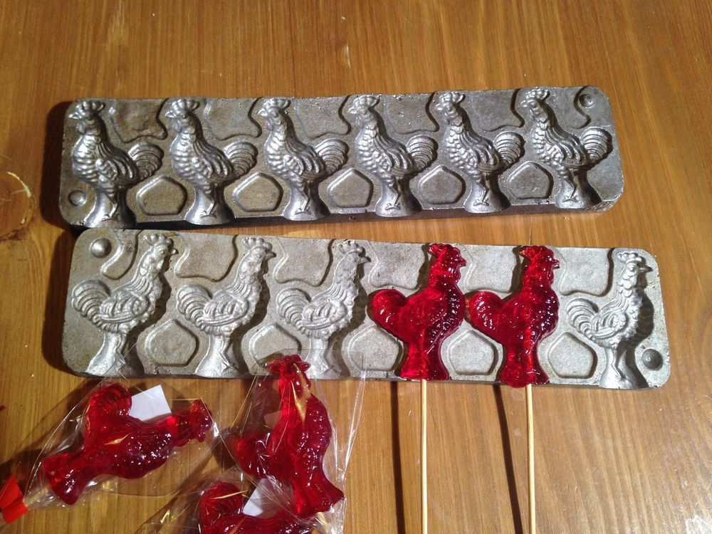 ROOSTER CHOCOLATE LOLLIPOP MOULD