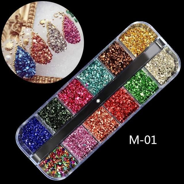 1 Box AB Jelly Rhinestones 3D Colorful Nail Sequins Crushed Stones Fur Ball  For DIY Accessories Glitter Nail Art Decorations 86cb9c2bb58f