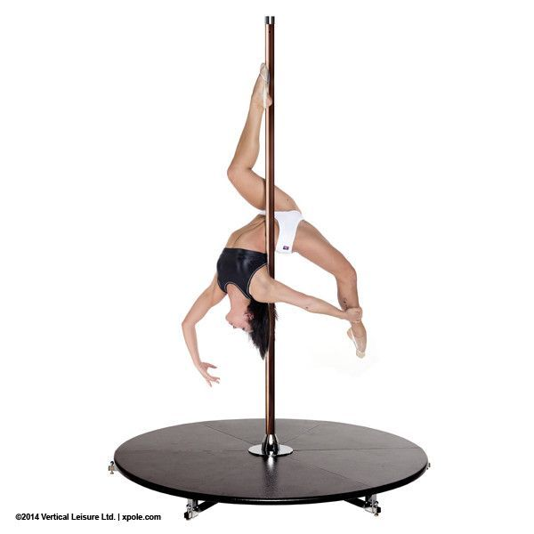 X-POLE X-Stage Lite 40mm Brass Dance Pole with Stage Benefits - Get super fit and strong, more self confidence and look and feel great! - Take your pole wherever you like - Both Stationary and Spinnin