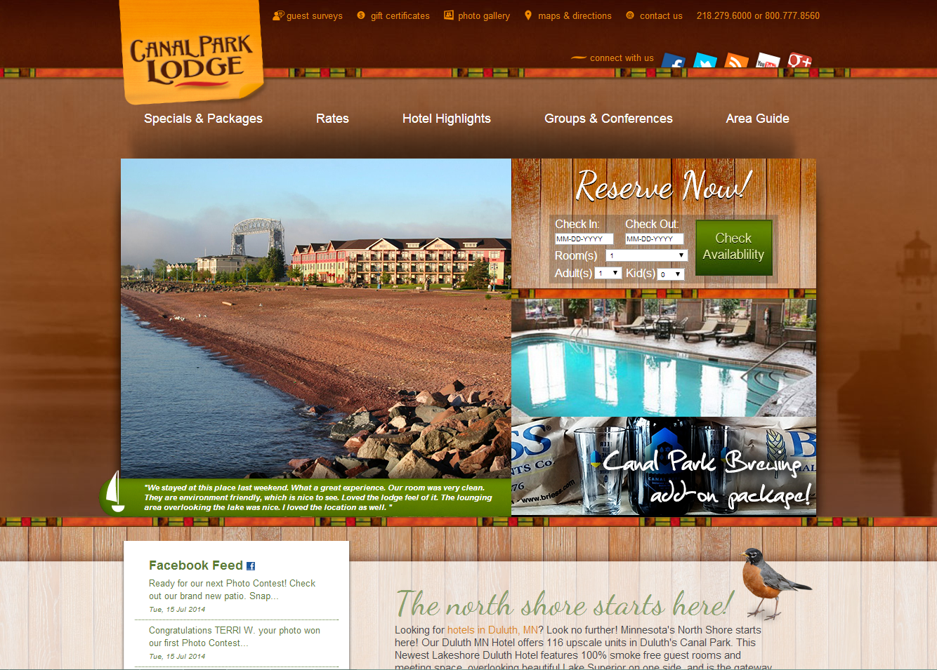 Canal Park Lodge Duluth Mn Website Design By Faster Solutions Inc Fastersolutions Com Web Design Development Lodging Park Lodge Lodges Lodge