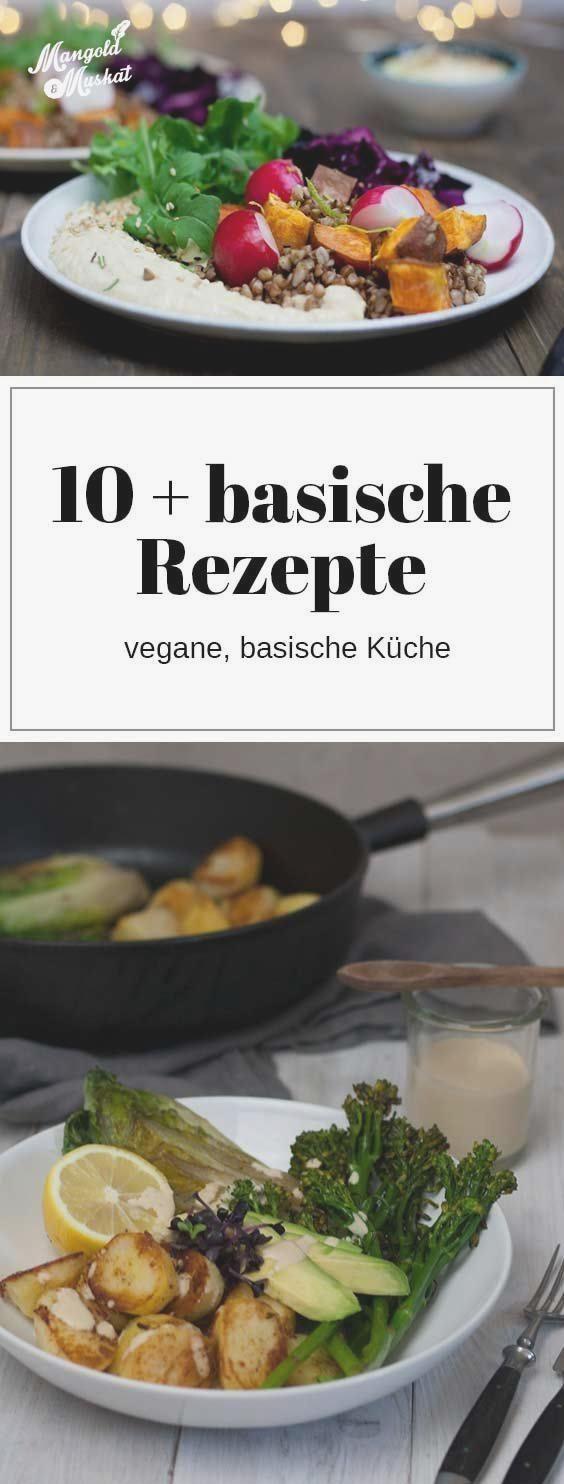 basische Rezepte, Rezeptsammlung für vegane, basenüberschüssige Küche #abendessen #fitness #fitnessa...