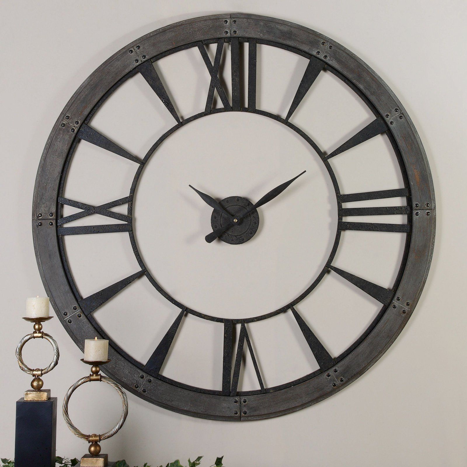 Black Wall Clocks have to have it. uttermost ronan wall clock - $272.8 @hayneedle 40