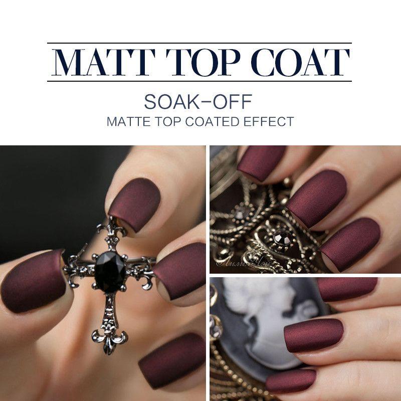 Modelones Hot Matte Top Coat UV Nail Gel Long Lasting Gel Polish ...