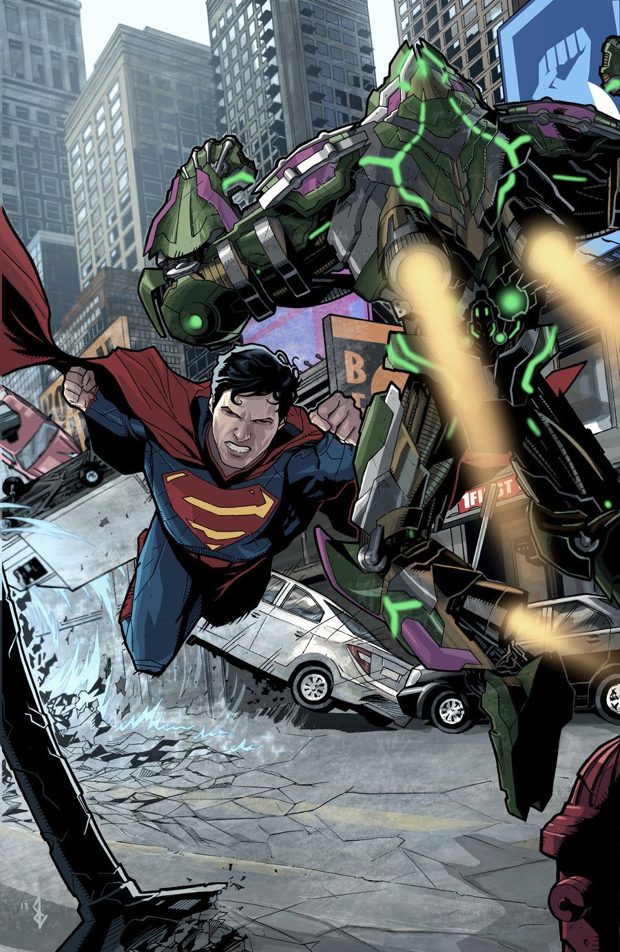 #Superman #Fan #Art. (Superman versus Lex) By: Bentti Bisson. (THE * 5 * STÅR * ÅWARD * OF: * AW YEAH, IT'S MAJOR ÅWESOMENESS!!!™)[THANK U 4 PINNING!!!<·><]<©>ÅÅÅ+(OB4E)