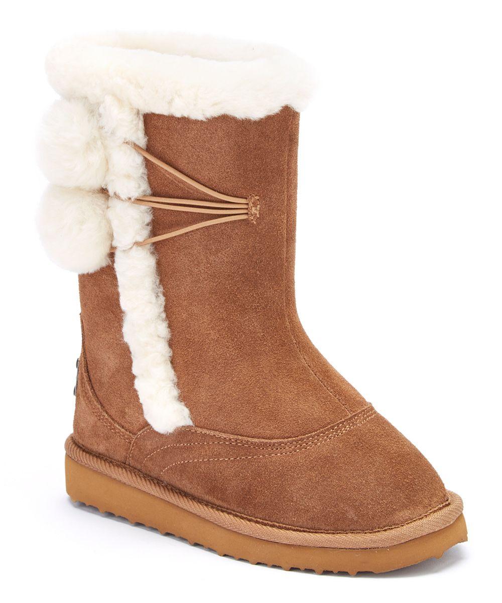 Camel Coco Junior Suede Boot - Girls