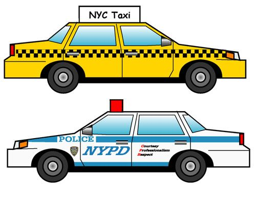 New York City - Taxi and Police car - download template #7