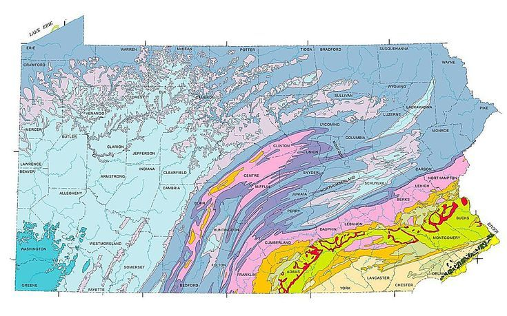 Geologic maps of the 50 united states pennsylvania and united states geologic maps of the 50 united states sciox Image collections