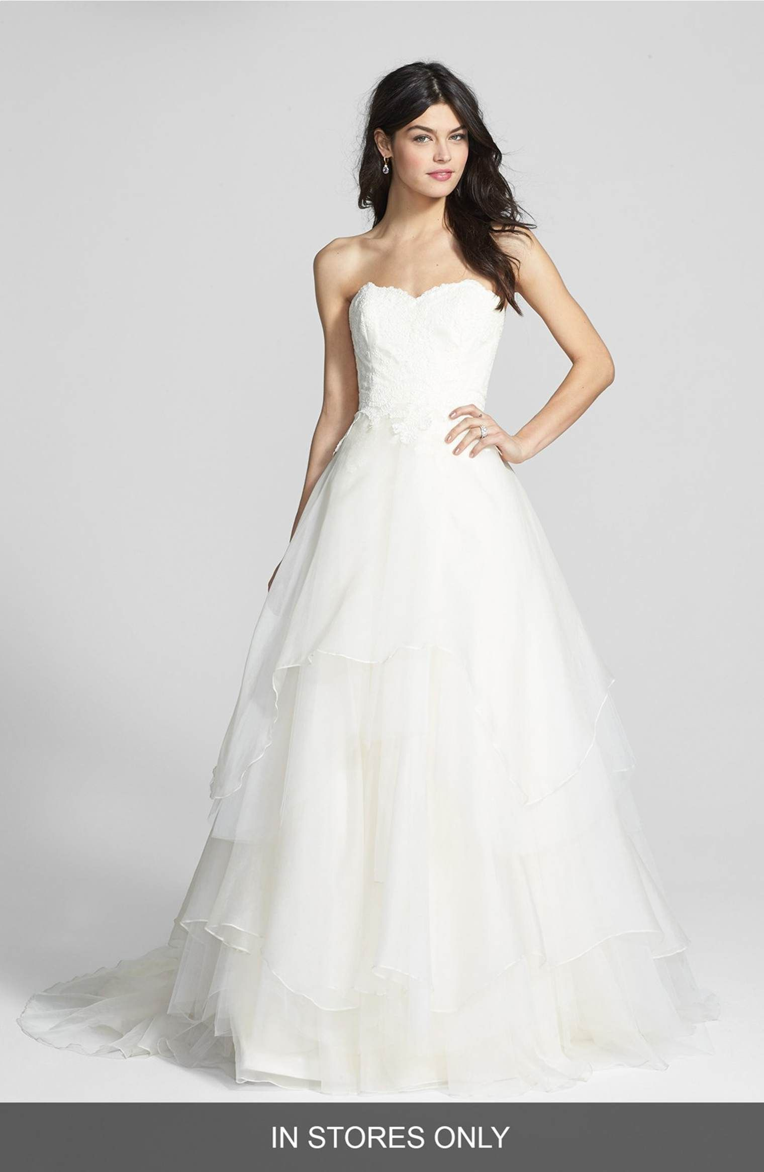 Main Image - Hayley Paige \'Mila\' Strapless Silk Organza Wedding ...