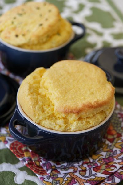 Soft, fluffly, and deliciously beautiful, this spoonbread is a incredible as a side for a fall meal.
