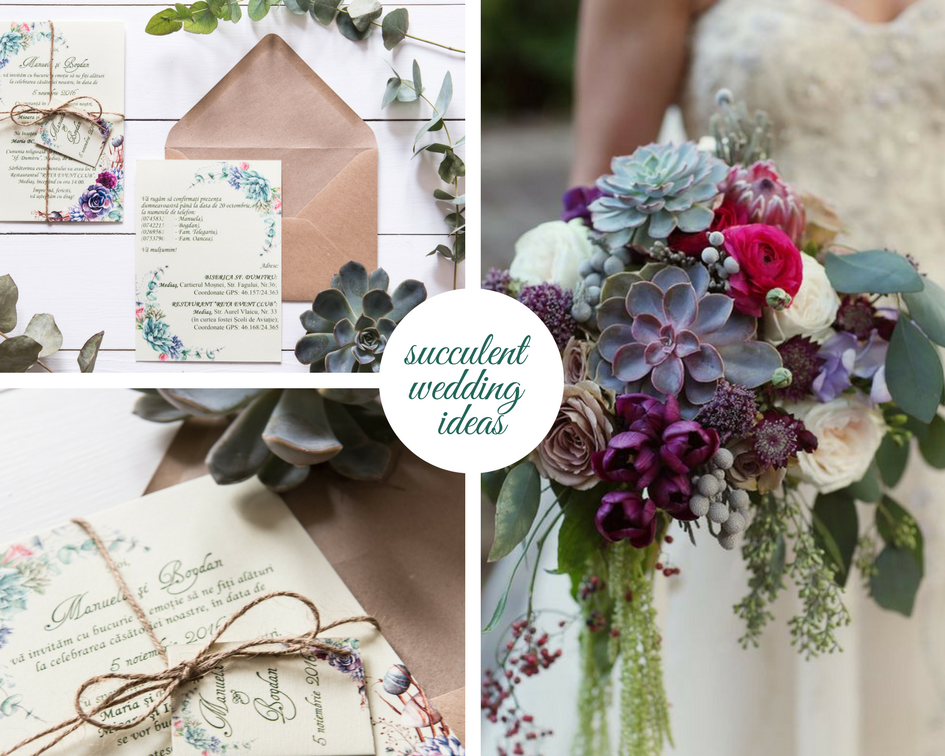 Floral Botanical Wedding Theme With Soft Green Succulent Wedding