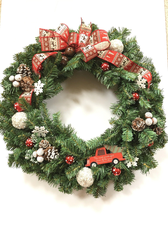 Winter Wreath Christmas Wreath Wreath Holiday Decor Front Door