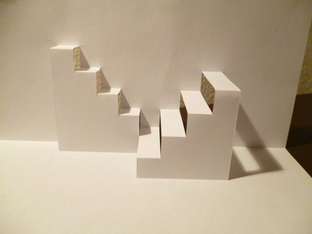 Best Architecture Stairs Pop Up Card No 2 Up Book Manualidades 640 x 480