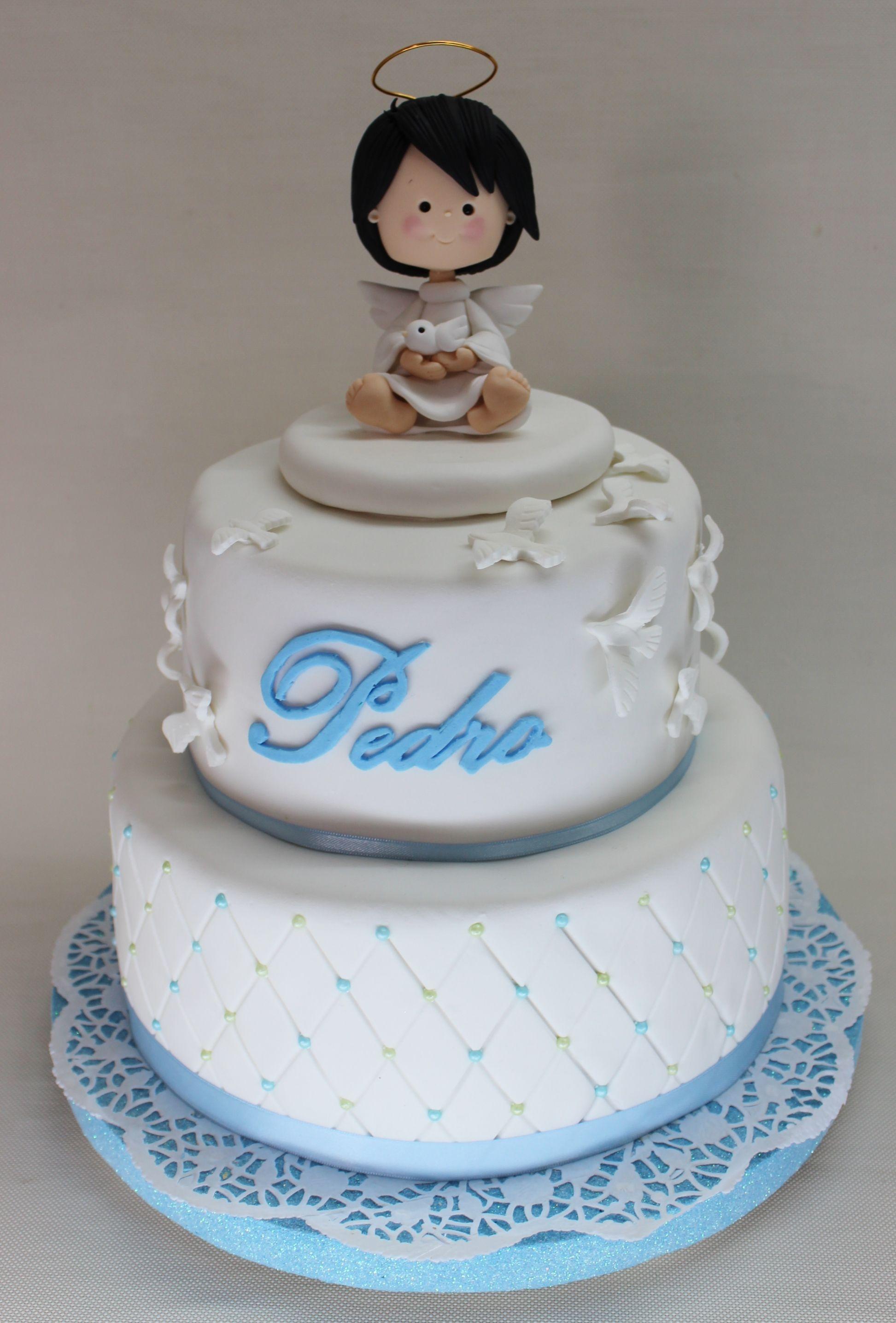 Baptism Cake by Violeta Glace | Bautismo, Torta bautizo, Tortas de ...