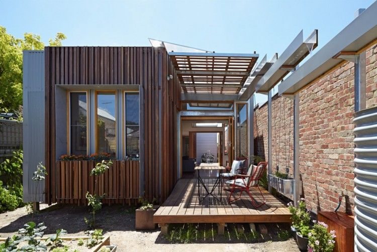 convertible courtyards house by christopher megowan design  timber cladding stylish outdoor space also best building projects th bdav awards rh pinterest