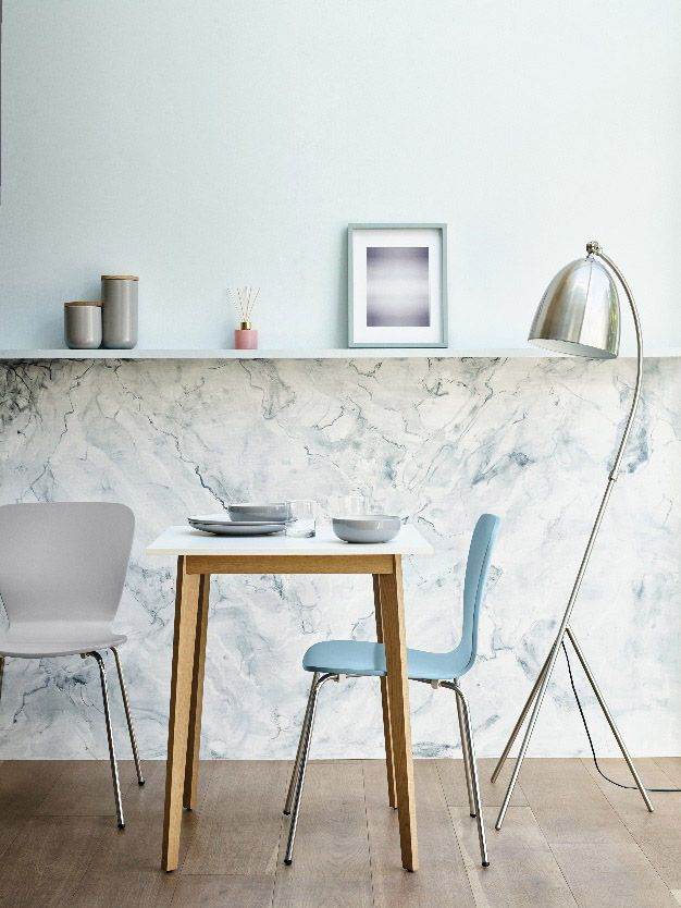 Marks And Spencer Interiors Give A Marble And Duck Egg Blue Update To This Kitchen Big House