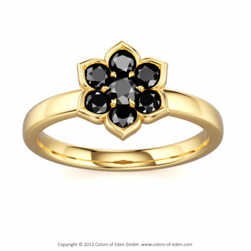 Black Diamond Ring #Clematis #Gold