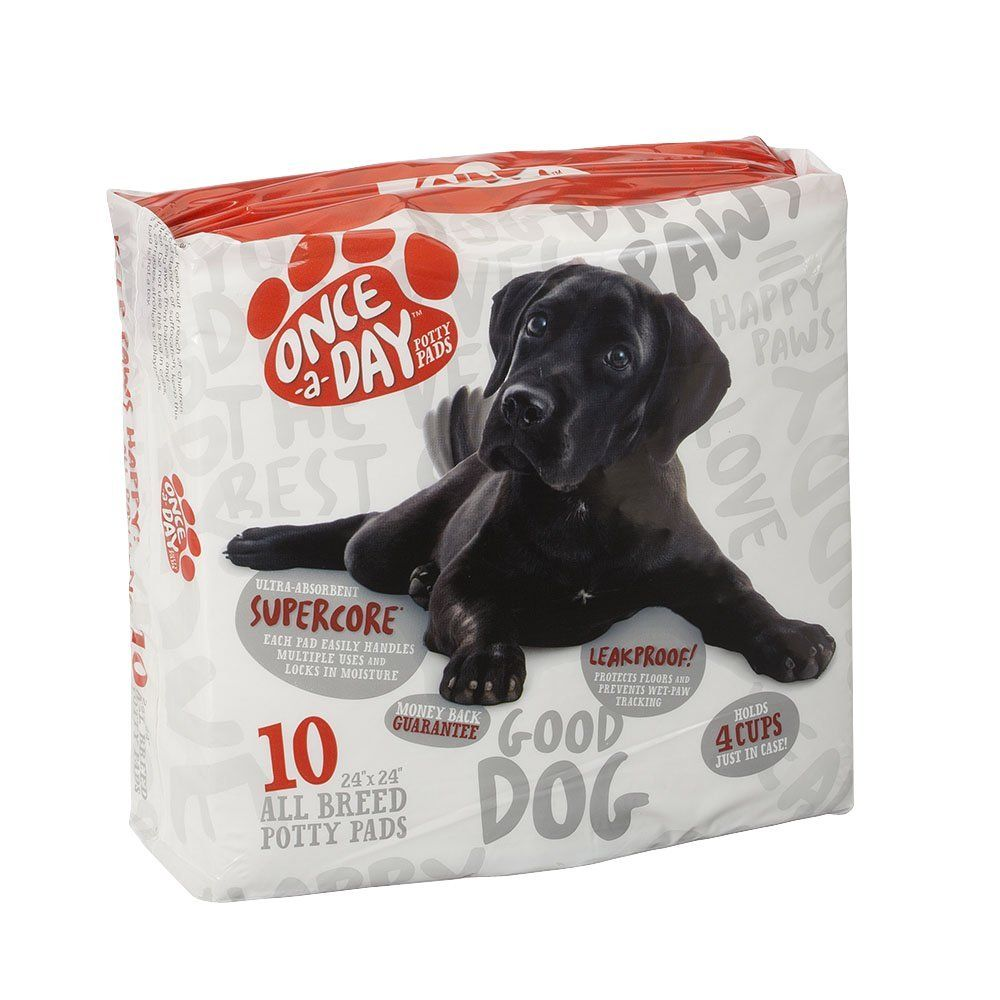 Onceaday super absorbent pet training and puppy pads 24