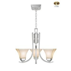 Hampton Bay Nove 3 Light Brushed Nickel Chandelier With White Glass Shades 17163 The Home Depot Brushed Nickel Chandelier Light Glass Shades 3 light chandelier brushed nickel