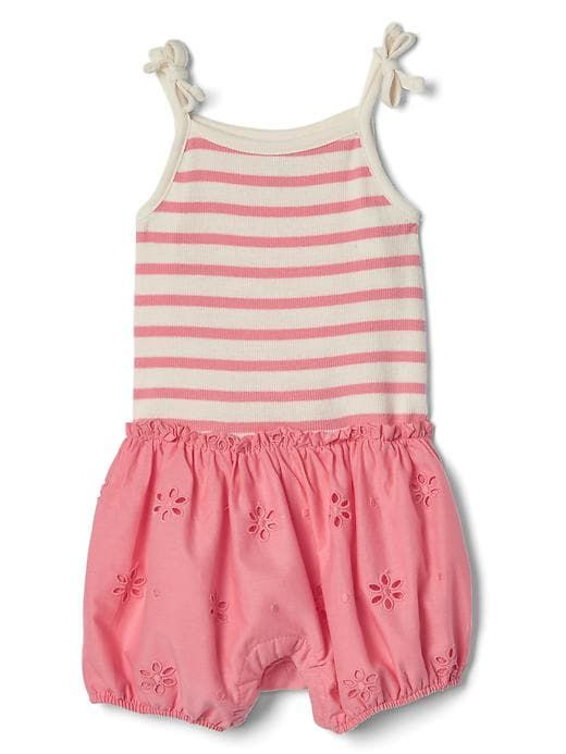 7f31087d1044 Gap Baby Eyelet Shorty One-Piece Coral Frost | Products | Baby gap ...
