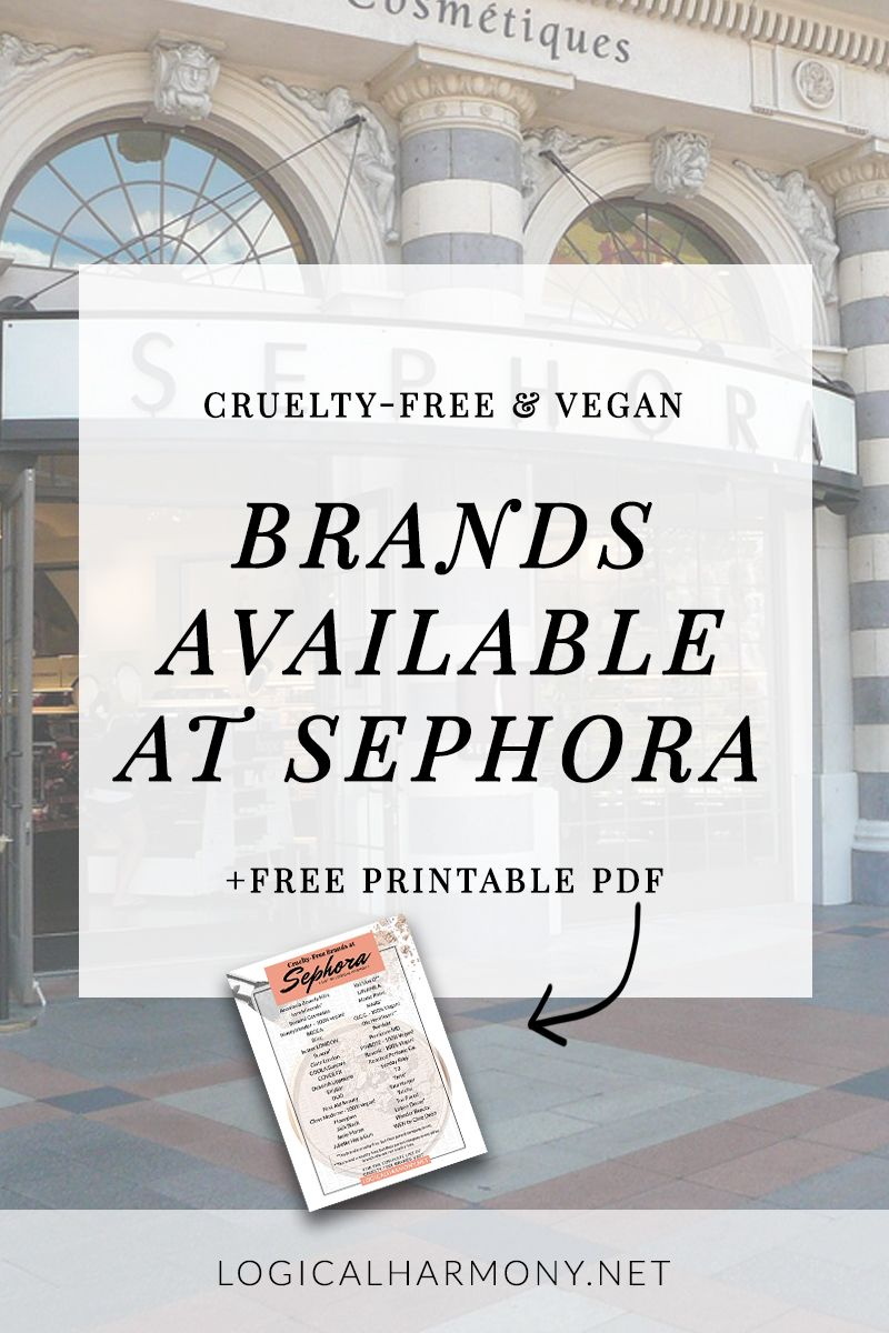CrueltyFree Brands at Sephora (Updated for 2019 Cruelty
