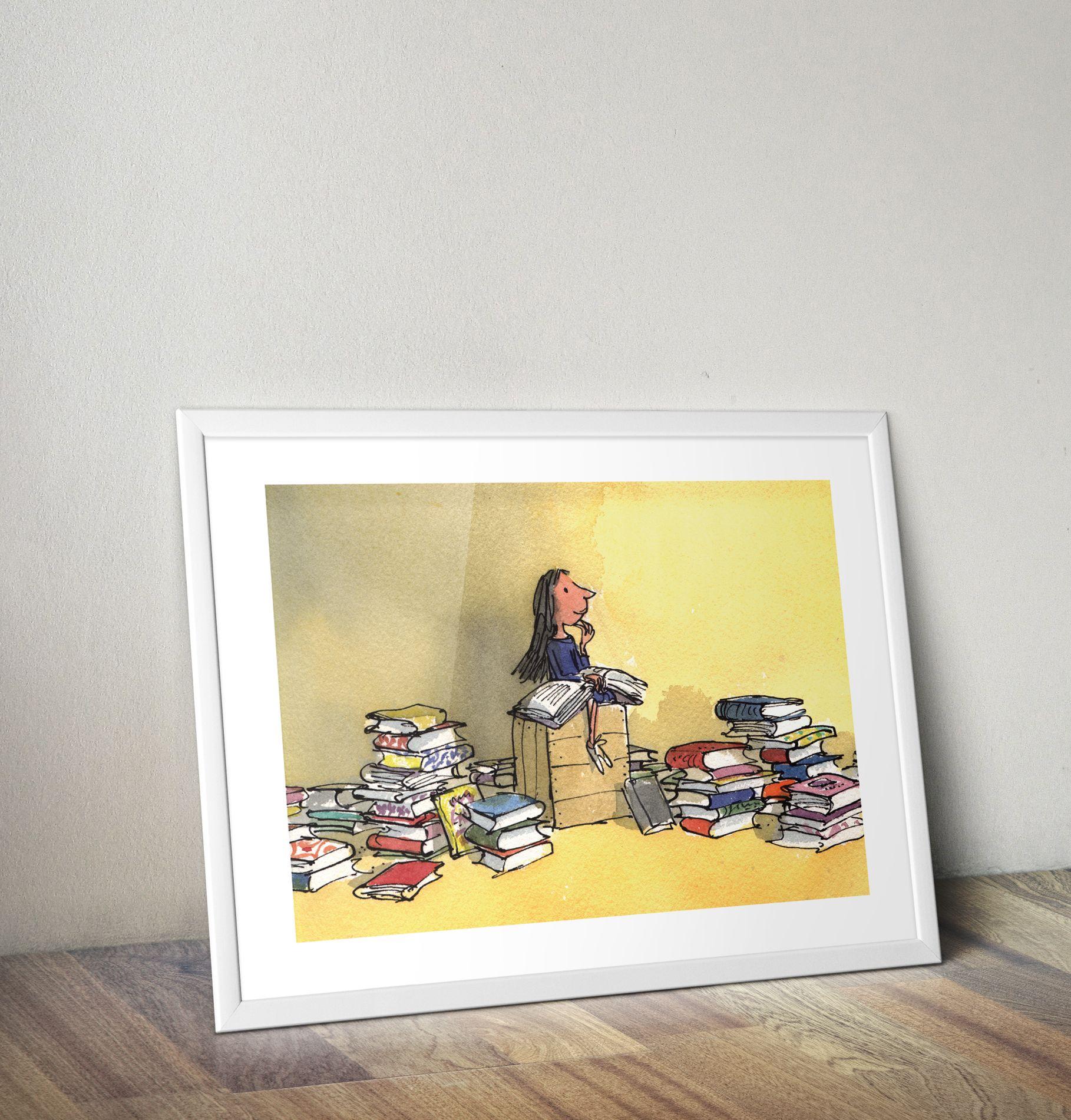 Framed Wall Art from Roald Dahl\'s Matilda. Featuring Quentin Blake\'s ...