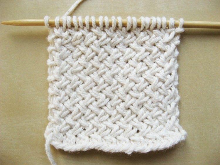 Diagonal Basketweave Knitting Pattern | Tejido, Puntos y Carpeta