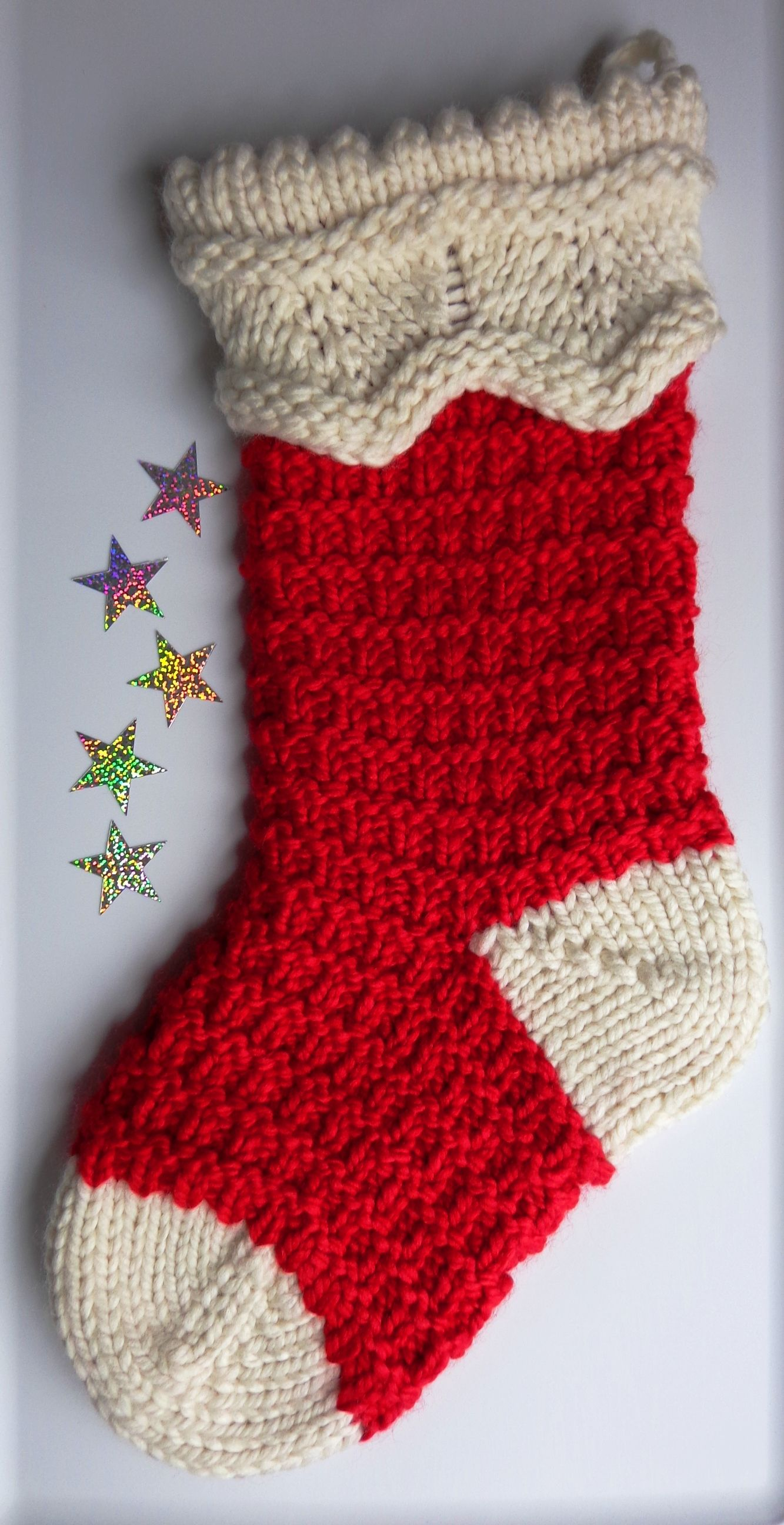 2013 Christmas stocking knitted wool | Knitted christmas ...