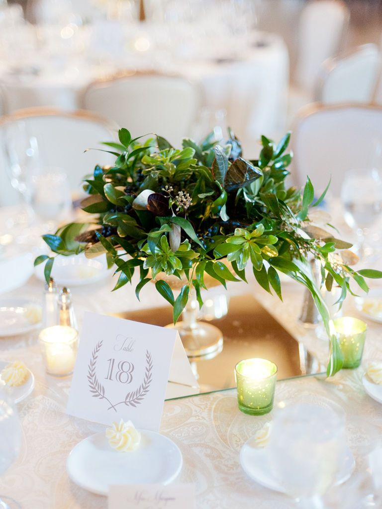 15 Ways To Use Greenery In Your Reception Centerpieces Wedding Floral Centerpieces Reception Centerpieces Greenery Centerpiece