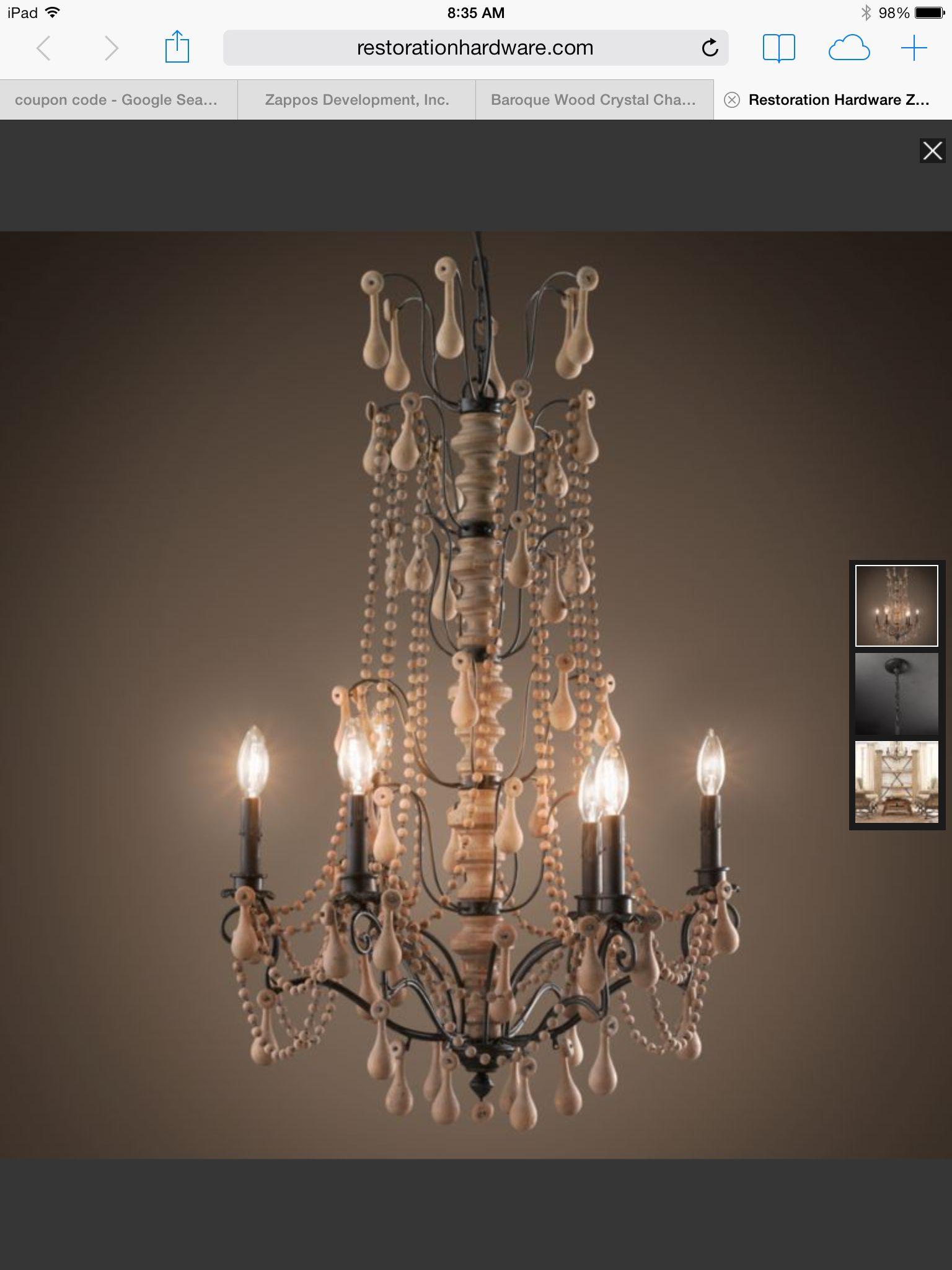 Pretty Chandelier, Ceiling restoration, Wood chandelier