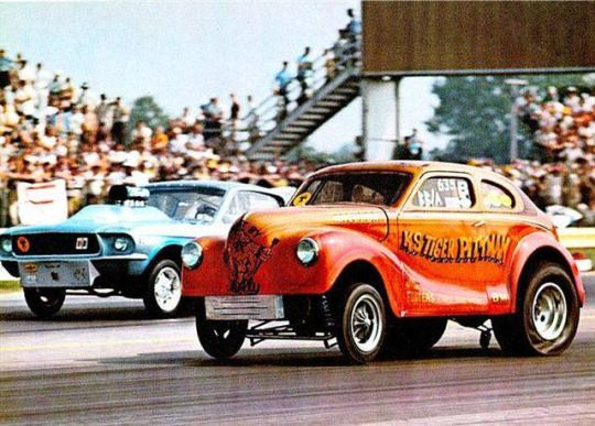 Vintage Drag Racing - Gassers - Ohio George Montgomery vs. K.S. Pittman