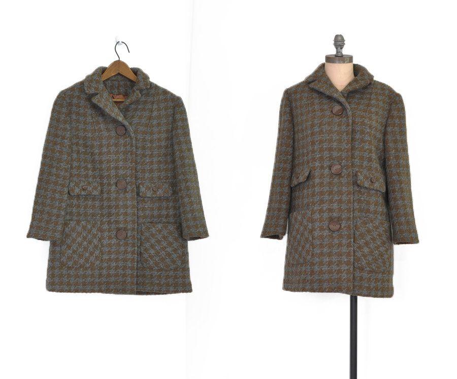 Elgin #Tweed Coat • #Vintage 60s Wool Coat • 1960s #Short Car Coat ...