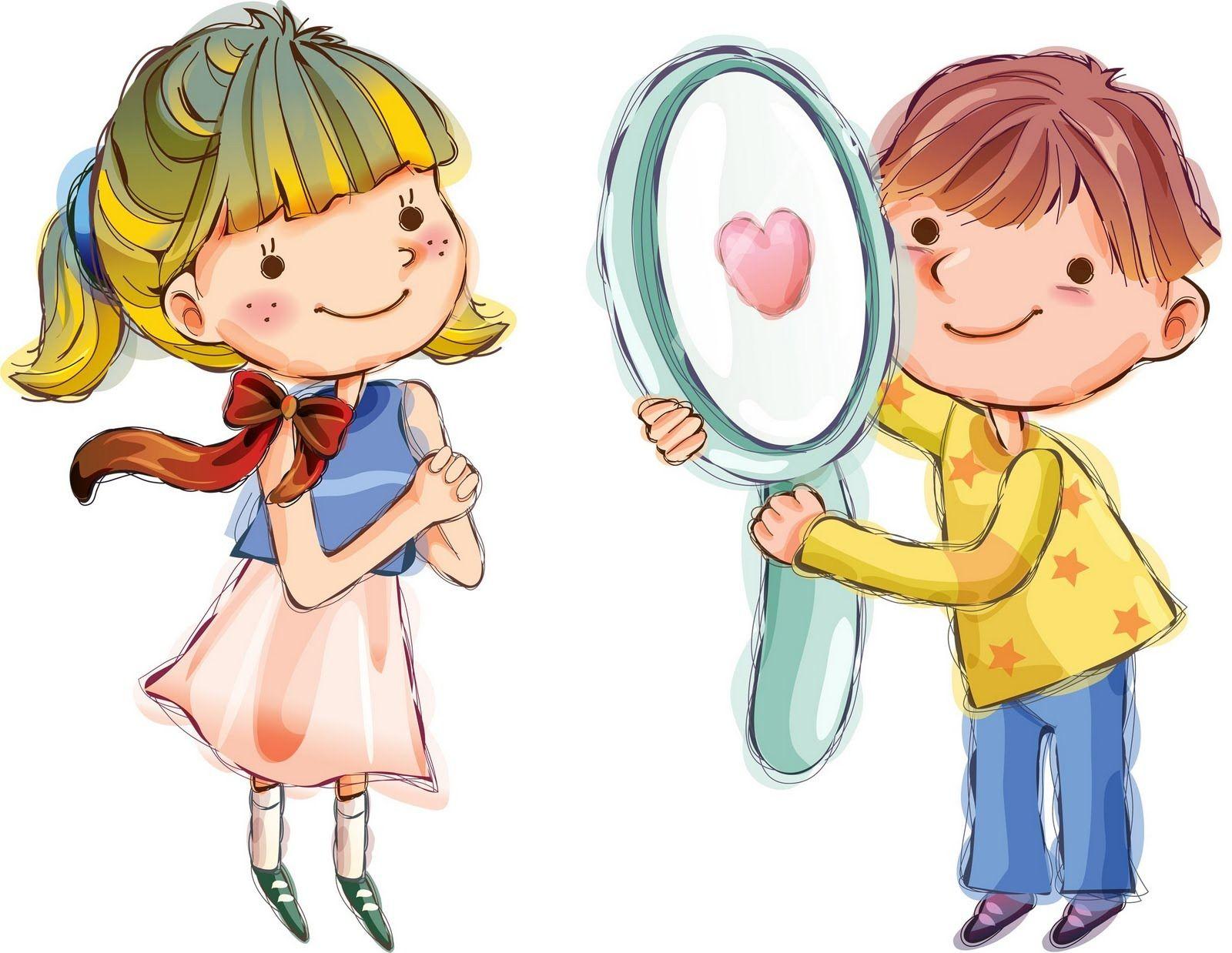 Мальчик и девочка картинки для детей нарисованные