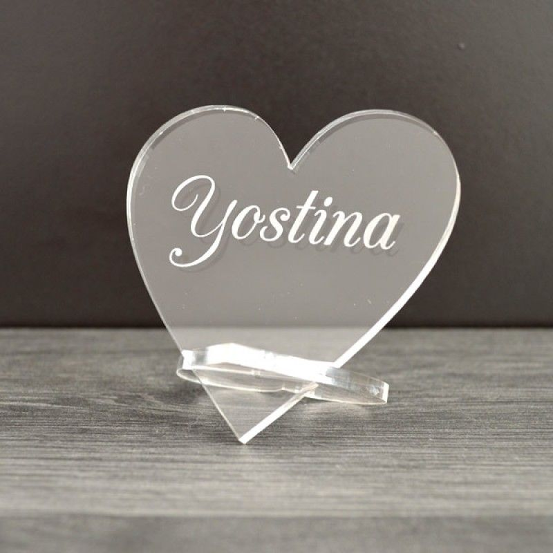 Personalised Heart Placecards For Weddings Idea Personalized Wedding Table Name Place Cards