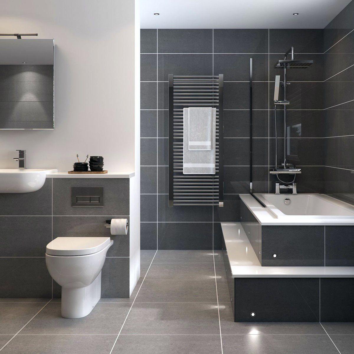Image Result For Grey Bathroom Green Tiles Dark Gray Bathroom Gray Bathroom Decor Small Grey Bathrooms