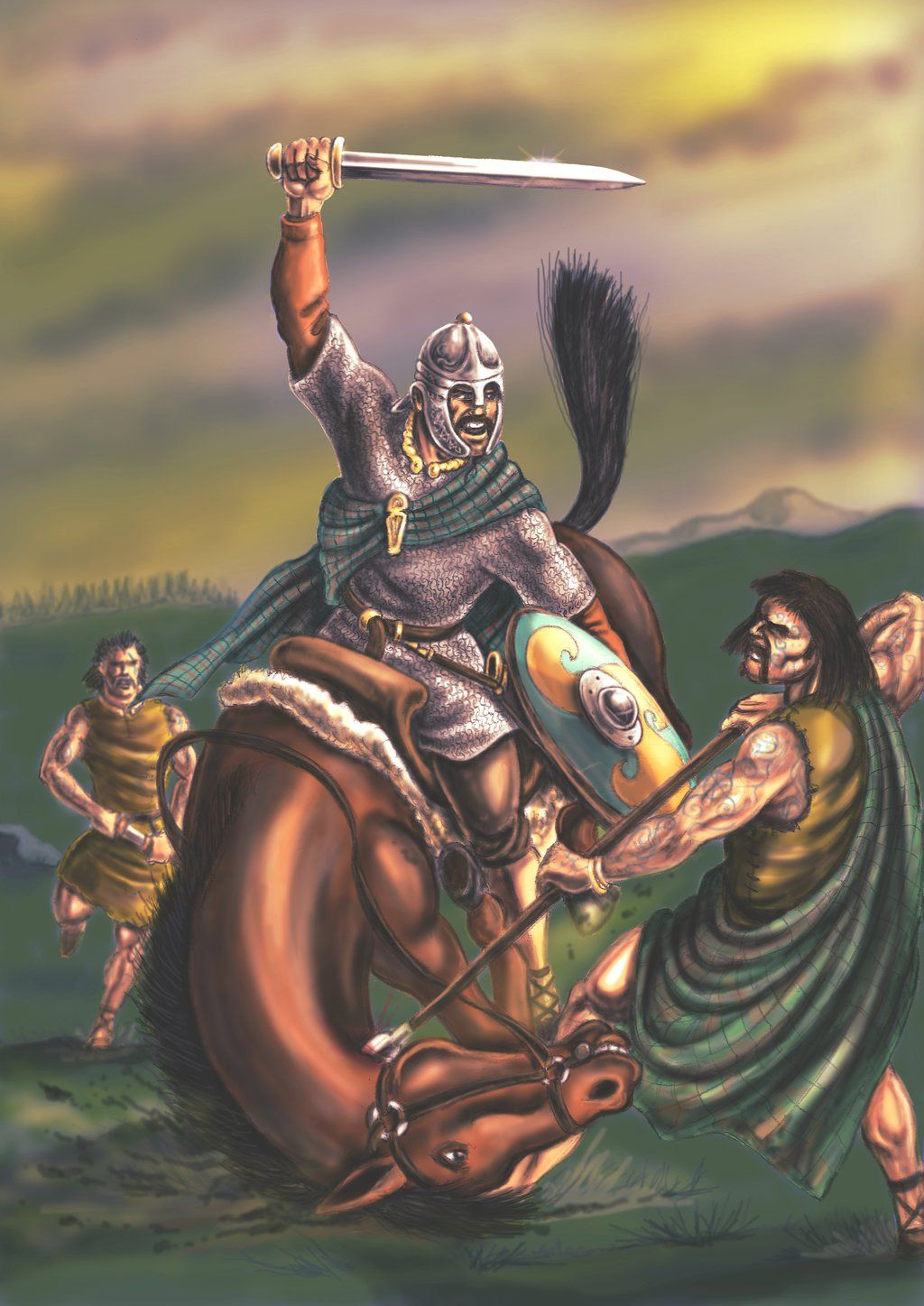 Picts Ambushing A Votadini Horseman By Popius On