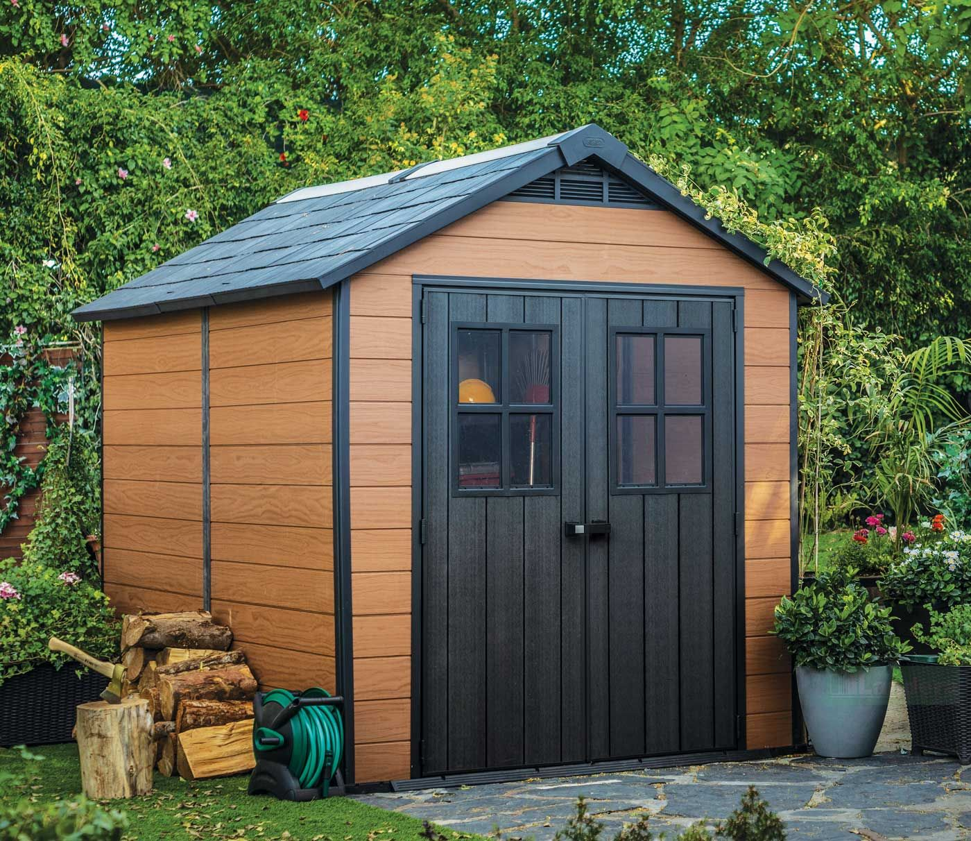 Keter Newton 759 Garden Shed 7 5 X9 2 3mx2 9m Discount Shed Outdoor Sheds Shed Design