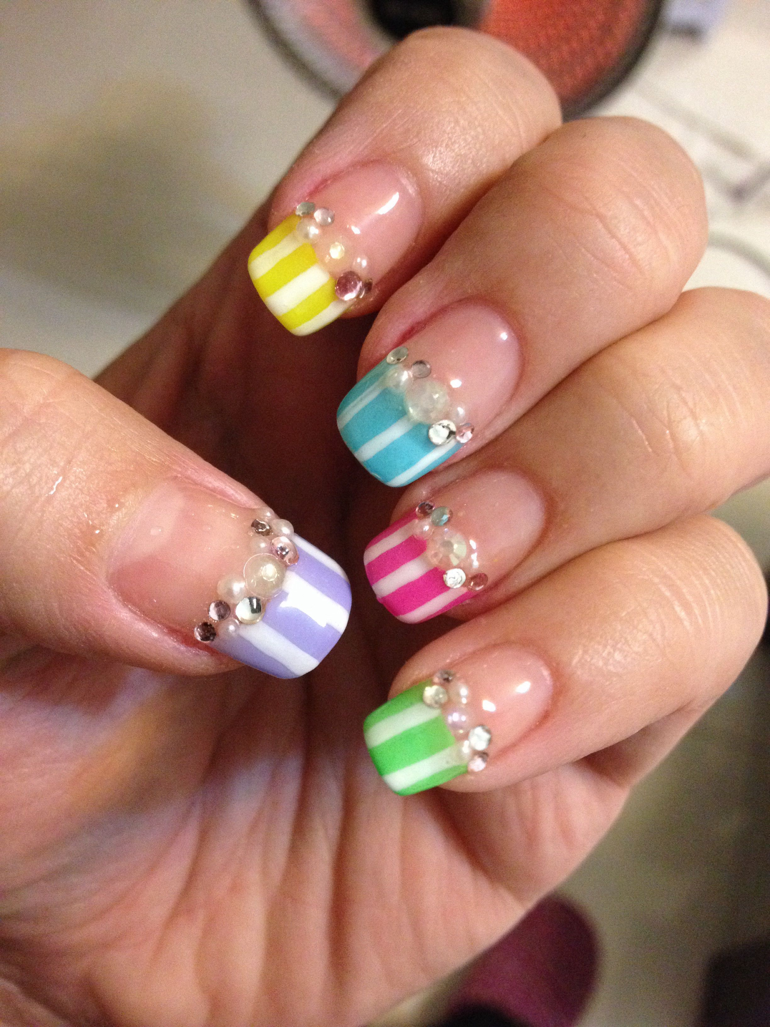Lumi strips French nails | Nail art ideas | Pinterest | French nails