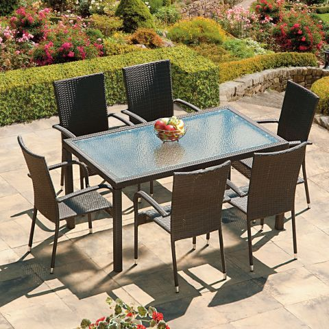 Suntime Lincoln 6 Seater Rattan Dining Set – The UK\'s No. 1 Garden ...