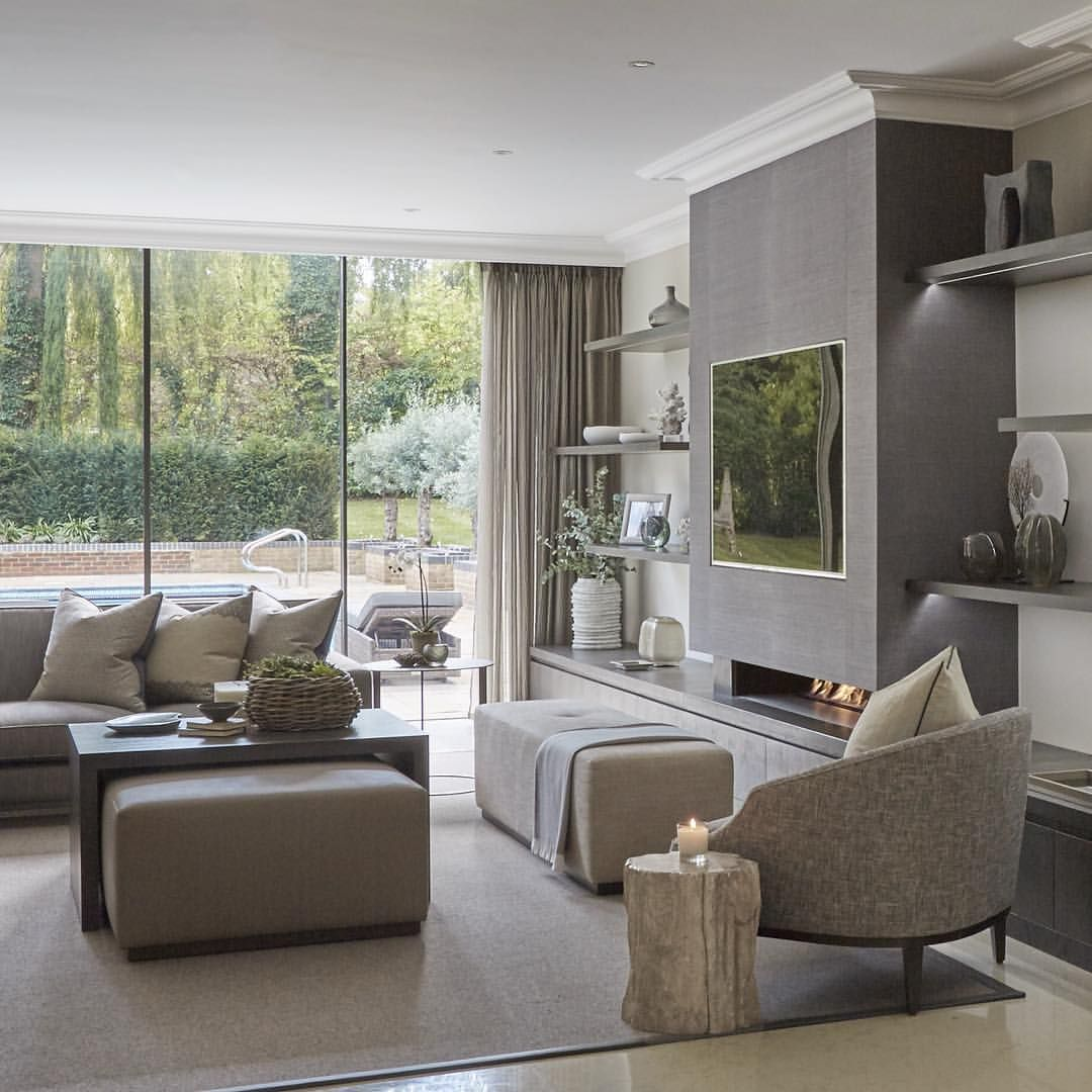 Tv Area In The Wentworth Project, Note How The Tv Shelving