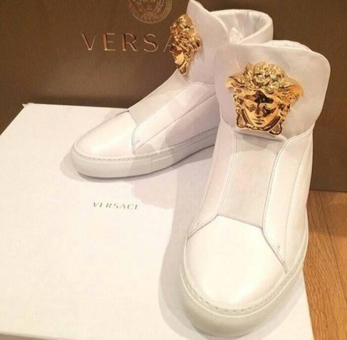 Versus Versace Sneaker High Damen Schwarz Schuhe Schönes