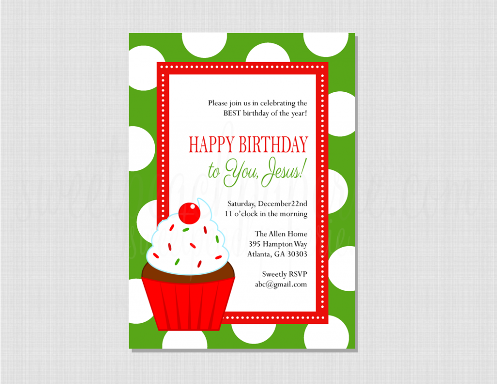 Happy Birthday Jesus Invitation Cupcake Happy birthday